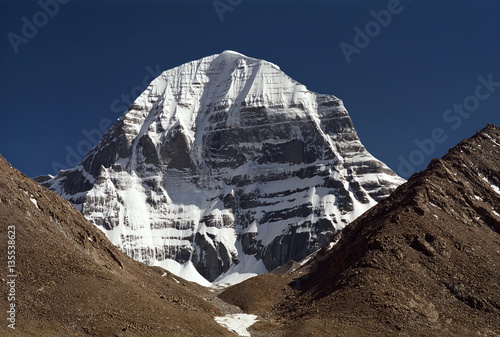 Poster Lama The North Face of sacred Mount Kailash in Western Tibet.