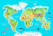 Animals And Where They Live. Our Planet. Earth.