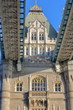 LONDON, UK: Detail of the architecture of the Tower Bridge