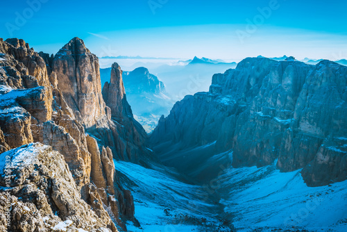 Alps mountains view Sella Ronda, Dolomites, Italy
