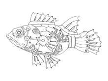 Steampunk Style Fish Coloring ...