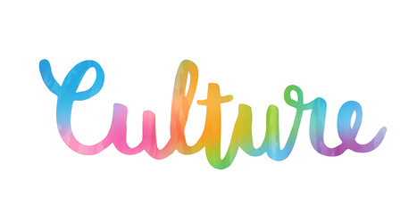 CULTURE hand lettering icon