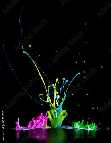 Photo  Bunte Farbspritzer - Paint Splash
