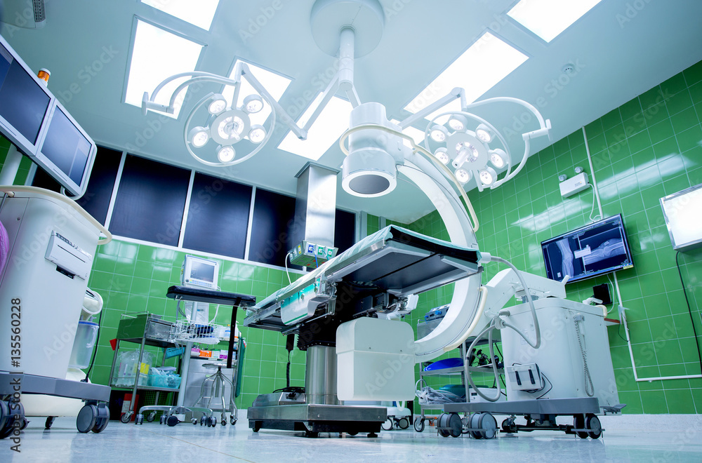 Fotografía operating room with modern equipment.