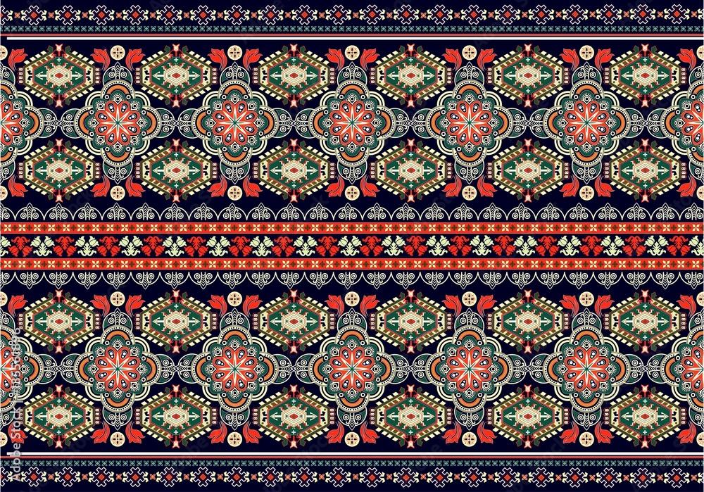 Muster mit Folklore Motiv