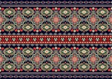 Muster mit Folklore Motiv - 135561896