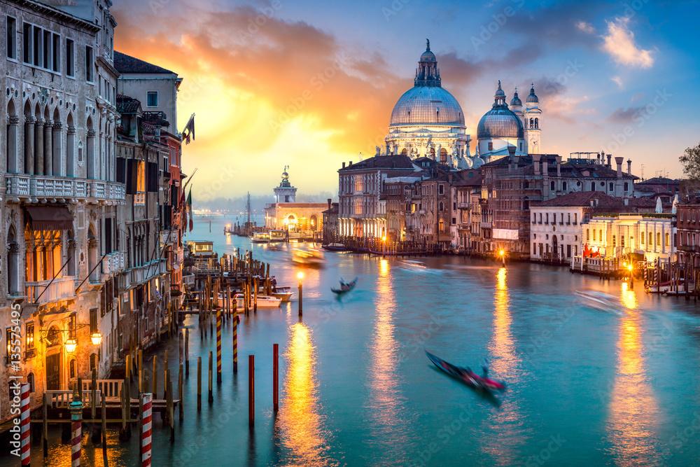Fototapety, obrazy: Venedig bei Sonnenuntergang