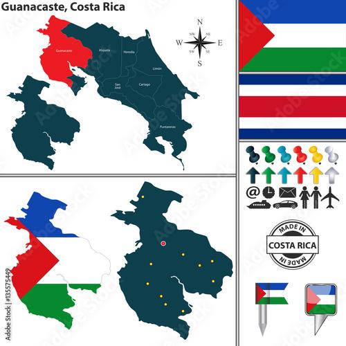 Map of Guanacaste, Costa Rica – kaufen Sie diese ...