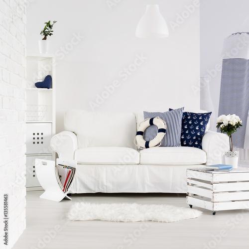 Fotografia Modern interior in marine style