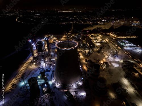 Fototapeta panorama miasta elektrownia jaworzno obraz