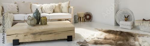 Wooden designer furniture Fototapete