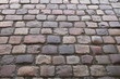 The texture of the street stone and cobblestone
