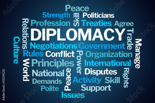 Fotografía  Diplomacy Word Cloud