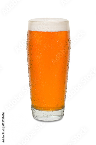 Photo Sweated Craft Pub Beer Glass with Running Drip Down Side #2