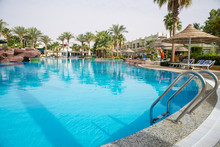 Large Swimming Pool With Palm ...