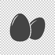 Egg Icon. Flat Vector Illustra...