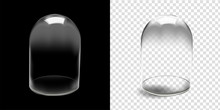 Glass Dome Vector In Black Bac...