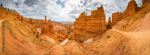 Fotografie, Tablou Bryce Canyon landscape from the top of mountain