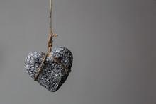 Stone Heart In Jute Bondage Ha...