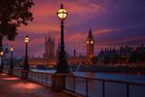 Fototapeta Big Ben - London sunset skyline Bigben and Thames