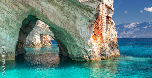 Blue caves on Zakynthos Island Greece Wallpaper Mural