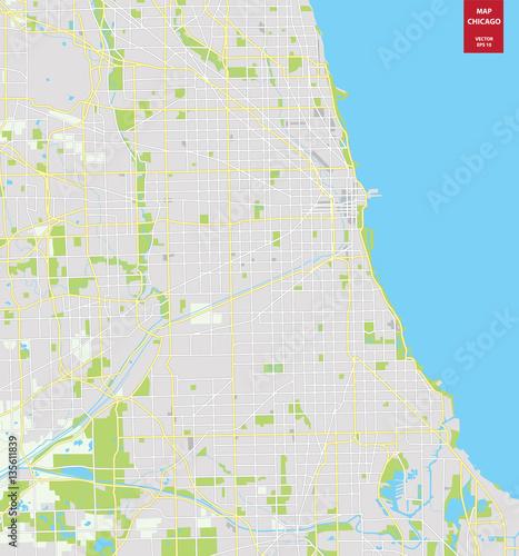 Obraz na płótnie plan miasta Chicago