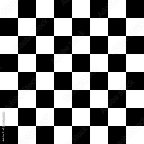 Black and white Chess board 8 by 8 grid, High resolution background and 3D repea Poster