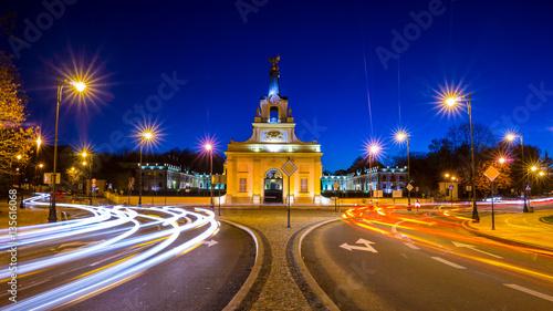 Obraz Pałac Branickich w nocy - fototapety do salonu
