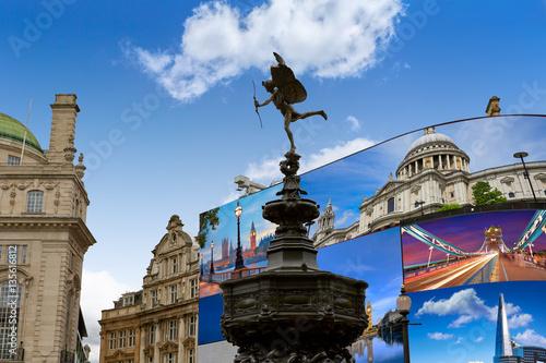 Piccadilly Circus London digital photomount Wallpaper Mural