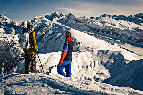 Fotografia, Obraz Backcountry skiing