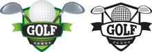 Golf Logo Or Badge, Shield Or ...