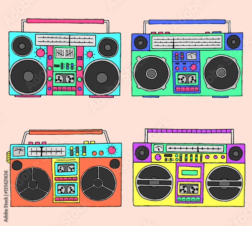Fotografia  80s boomboxes