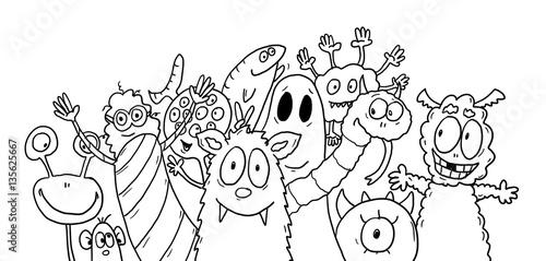Ausmalbild Monster – kaufen Sie diese Illustration und finden Sie ...
