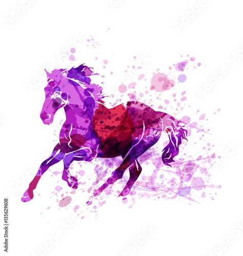 wektorowa-ilustracja-biegnacego-konia