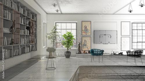Appartamento, Rendering 3d progetto, interni, Camera Da ...