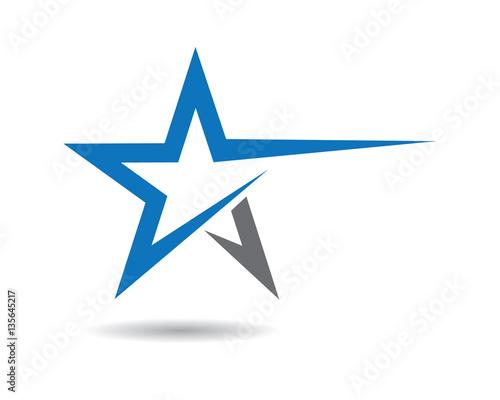 Obraz Star Logo Template - fototapety do salonu