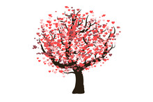 A Decorative Vector Love Tree ...