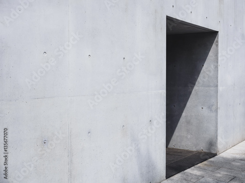 Architecture details cement wall texture door shade and shadow