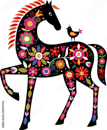 Fotografija  Horse with Slovak folk ornaments