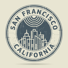 Grunge Rubber Stamp Or Label With Text San Francisco, California