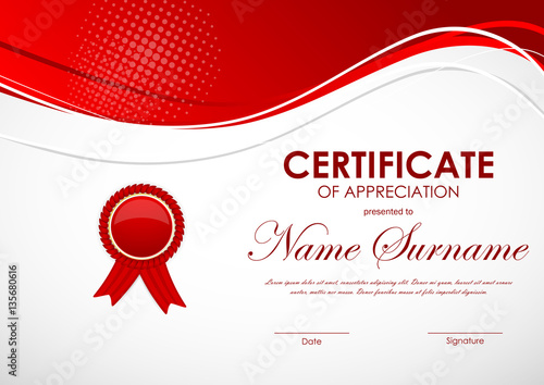 Certificate of appreciation template buy this stock vector and certificate of appreciation template yelopaper Images