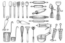 Kitchen, Tool, Utensil, Vector...