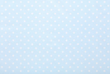 Baby Blue Polka Dot Fabric Tex...