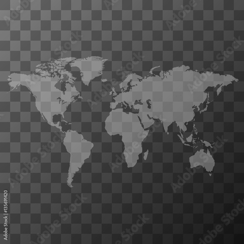 Transparent world map illustration buy this stock vector and transparent world map illustration gumiabroncs Choice Image