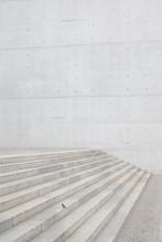 Sparrow Perched On Steps, Paul Loebe Building, Berlin