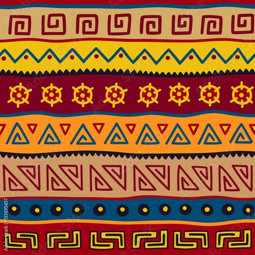 bezszwowy-koloru-wzor-w-etnicznym-stylu-element-dekoracyjny-motyw-afrykanski-zestaw-bezszwowe-rocznika-ozdobny-granicy-plemiennych-tradycyjne-afrykanskie-tlo-wzor-z-plemiennych-elementow-formy