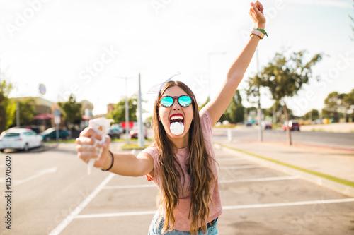 American pin-up teenager