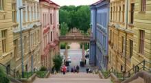 Historical Street In Brno, Cze...