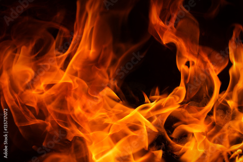 Fotografie, Obraz  Fire flames background