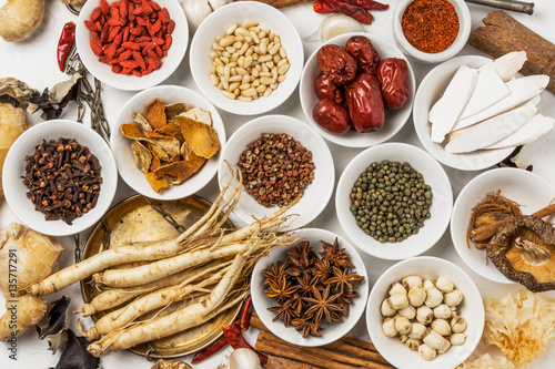 Photo 漢方 薬膳材料  Materials of the Chinese medicine